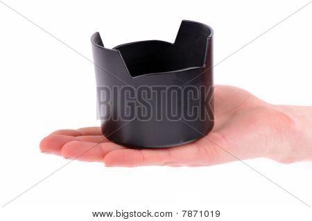 Hand Holding Lens Hood