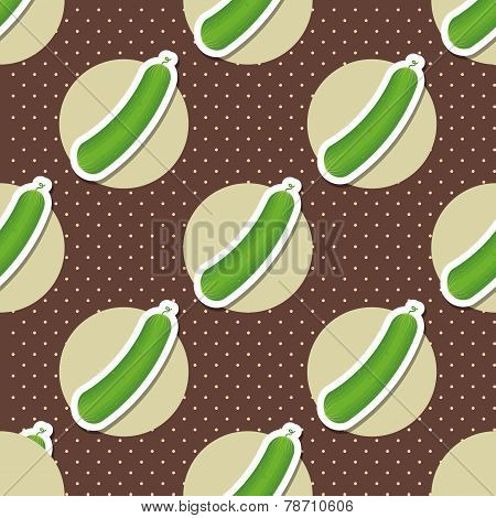 Cucumber Pattern. Seamless Texture With Ripe Green Cucumbers