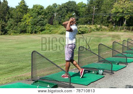 Driving Range Swing Practice