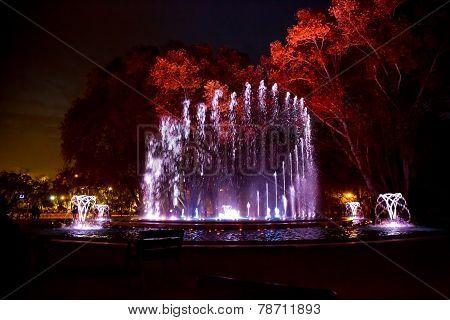 Music fountain Margaret Island
