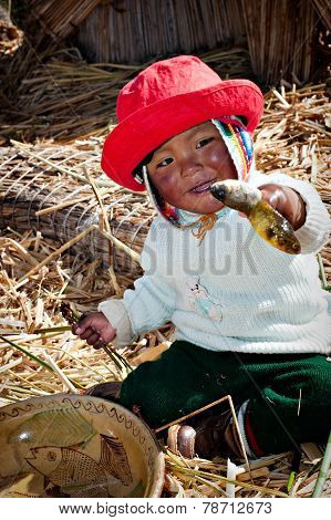 Island Of Uros, Lake Titicaca