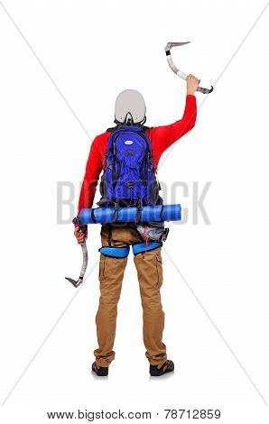 Tourist With Ice Ax