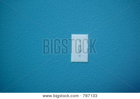 Light switch in blue