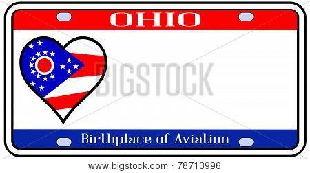 Ohio State License Plate