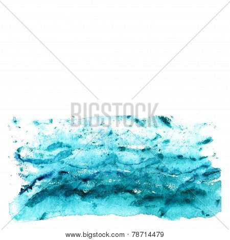 Abstract watercolor sea