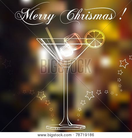 Merry christmas coctail on a background.