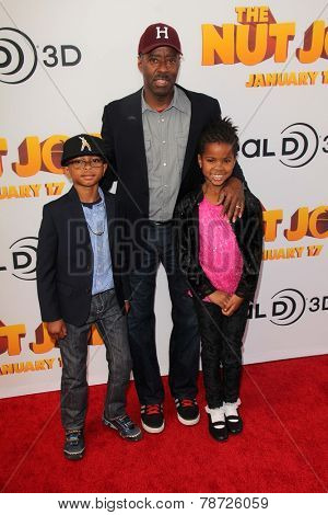 LOS ANGELES - JAN 11:  Courtney B. Vance, Slater Vance, Bronwyn Vance at the