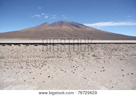 Railroad in the Desert and mountain