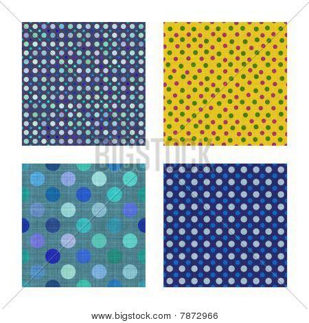Seamless tiling dot fabric textures