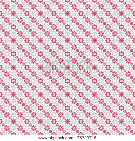 Chic vector seamless pattern. Pink, white