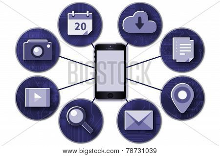Mobile conectivity illustration