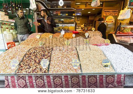 Turkish Nuts Sweets Delight Bazaar