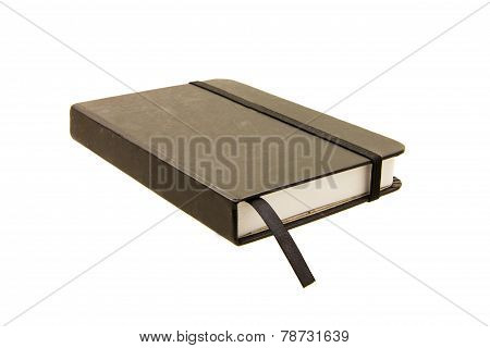 Black Closed Notebook Isolated On White