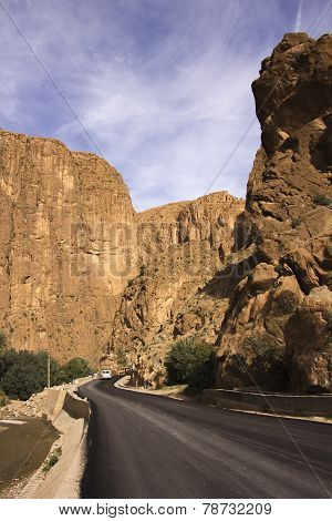 Road Right Into Todgha Gorge
