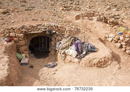 Natives' Den In Morocco