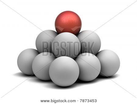 Pyramid of balls.