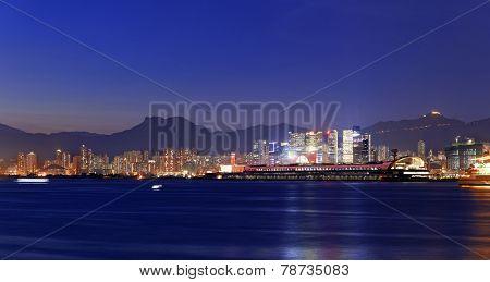 Hong Kong kowloon city Sunset