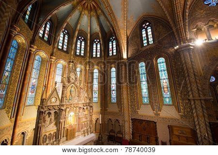 Matthias Church Interior - Budapest, Hungary