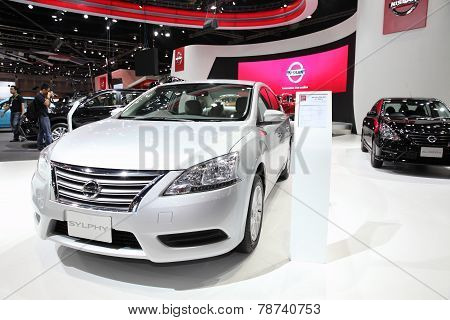 Bangkok - November 28: Nissan Sylphy Car On Display At The Motor Expo 2014 On November 28, 2014 In B