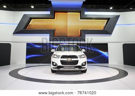 Bangkok - November 28: Chevrolet Captiva 2.4 Ltz (svp)  Car On Display At The Motor Expo 2014 On Nov