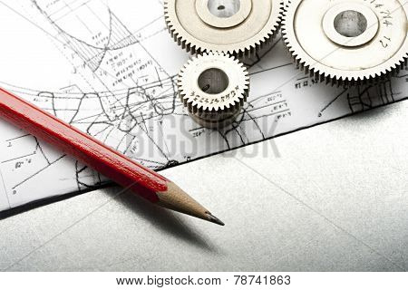 Mechanical Ratchets, Drafting And Pencil