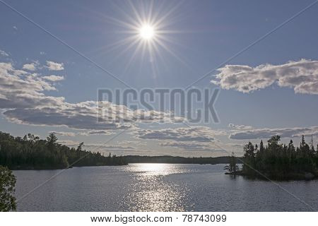 High Sun Over A Wilderness Lake