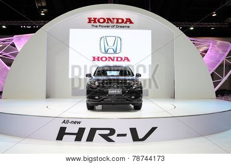Bangkok - November 28: Honda Hr-v Car On Display At The Motor Expo 2014 On November 28, 2014 In Bang
