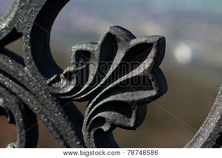 cast iron decorative element
