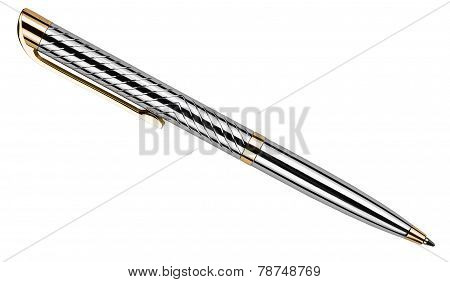 Silver Pen Isolated