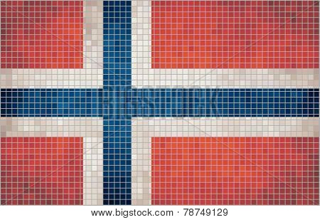 Mosaic flag of Norway
