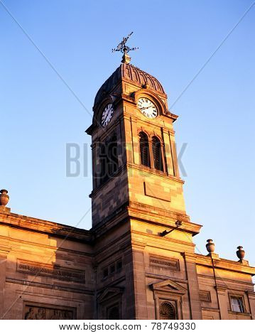 Guildhall clock tower, Derby.