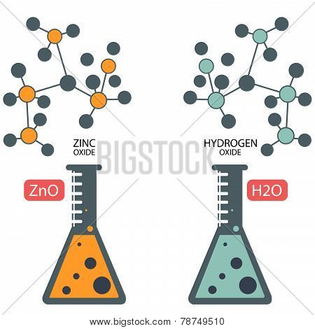 Chemistry Lab Molecular Test Tubes