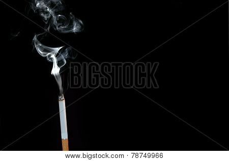 Smoke coming out of a cigarette