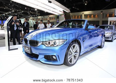 Bangkok - November 28: Bmw 420I Concertible Car On Display At The Motor Expo 2014 On November 28, 20