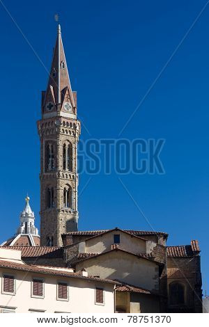 Spiers Of Cathedrals And Churches In Bergamo