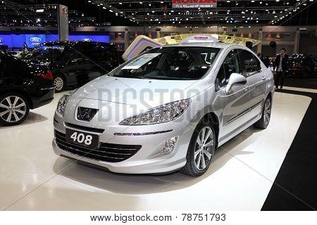 Bangkok - November 28: Peugeot 408 Car On Display At The Motor Expo 2014 On November 28, 2014 In Ban
