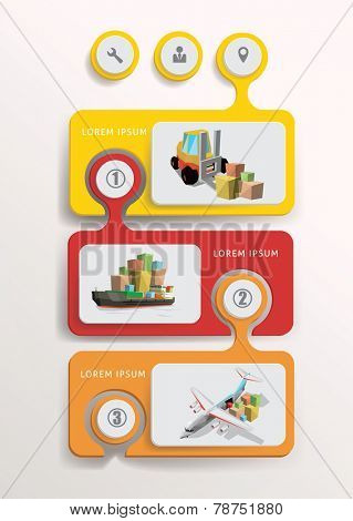 Transportation design infographic elements. Vector Illustration.