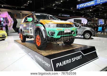 Bangkok - November 28: Misubishi Pajero Sport  Car On Display At The Motor Expo 2014 On November 28,
