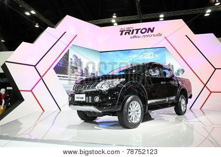 Bangkok - November 28: Misubishi  All New Triton Car On Display At The Motor Expo 2014 On November 2