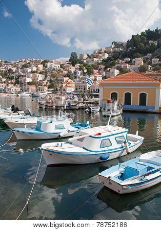 Fishing Boats At Symi