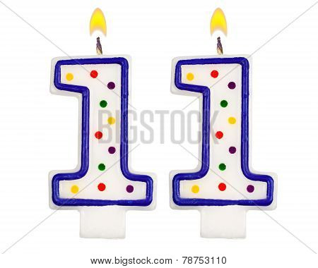 Birthday Candles Number Eleven