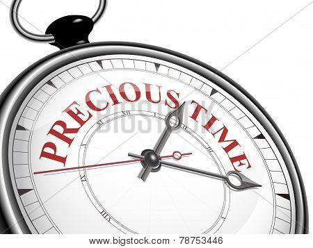 Precious Time Concept Clock