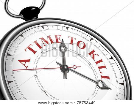 A Time To Kill Concept Clock