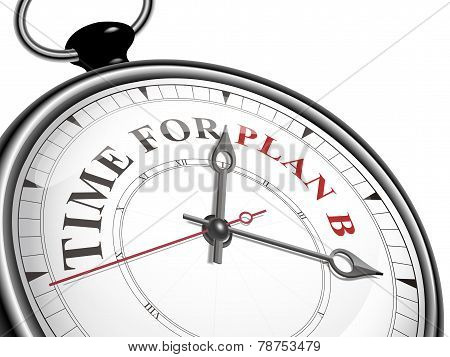 Time For Plan B Concept Clock