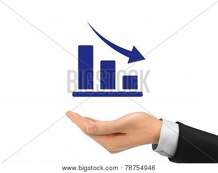 Decline Graph Holding By Realistic Hand