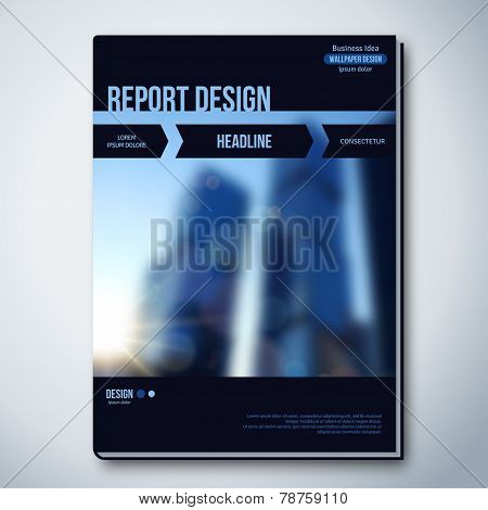 Modern Vector Abstract Brochure, Report or Flyer Design Template.