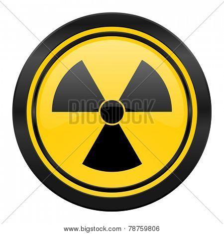 radiation icon, yellow logo, atom sign