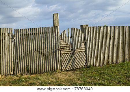 Traditional Wood Gate And Fence