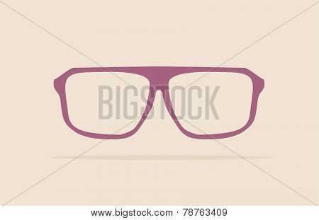 Vector violet nerd glasses
