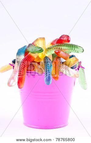 gummy jelly worm candies
